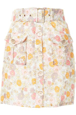 We Are Kindred Marly floral-print mini skirt - Neutrals