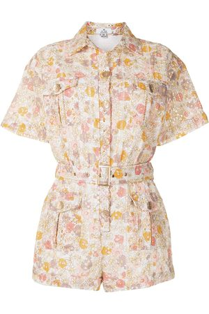 We Are Kindred Jemima floral-print cotton playsuit - Multicolour