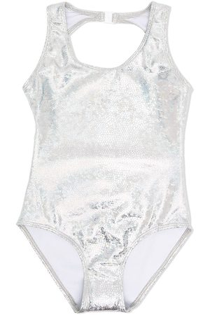 Le pandorine Metallic open-back swimsuit