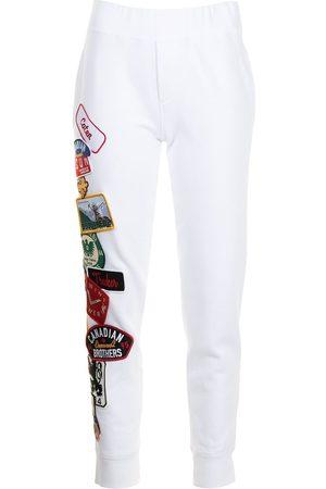 Dsquared2 Women Sweatpants - Patch-detail track pants
