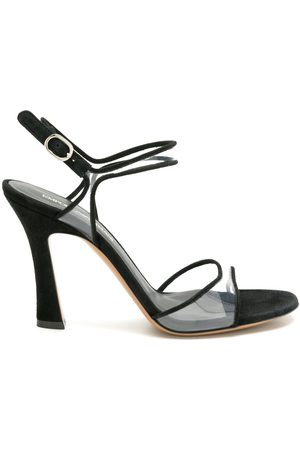 Emporio Armani Clear strap sculpted-heel sandals