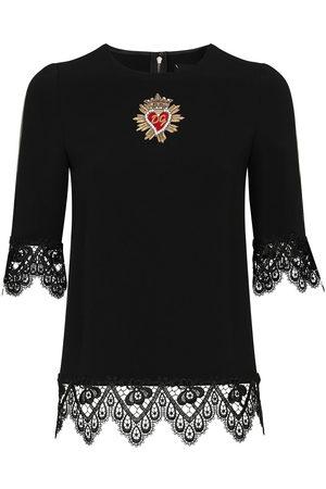 Dolce & Gabbana Cady lace-trim blouse