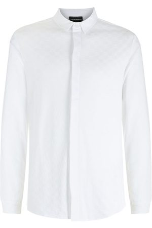 Emporio Armani Square-pattern long-sleeve shirt