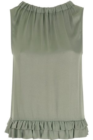 Emporio Armani Ruffled-hem blouse
