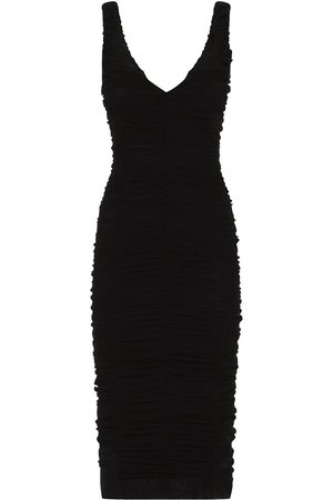 Dolce & Gabbana Women Bodycon Dresses - Tulle ruched fitted dress