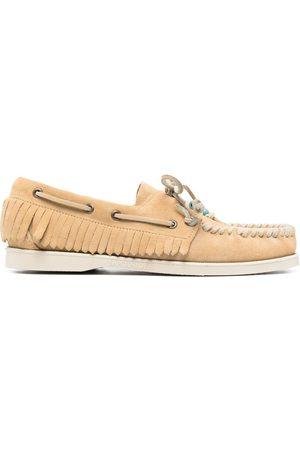 Alanui Fringed beaded boat shoes - Neutrals