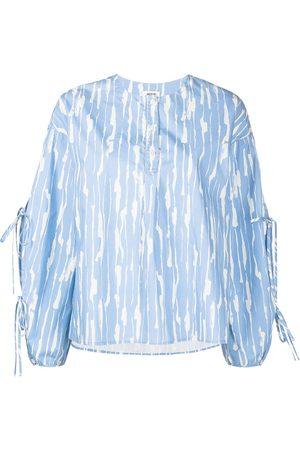 Jason Wu Women Blouses - Abstract-print cotton blouse