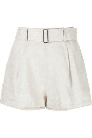 BONDI BORN Linen utility shorts