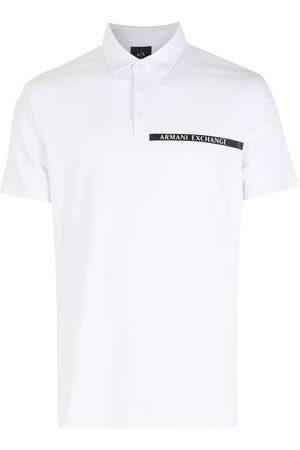 Armani Men Polo Shirts - Chest logo-print polo shirt