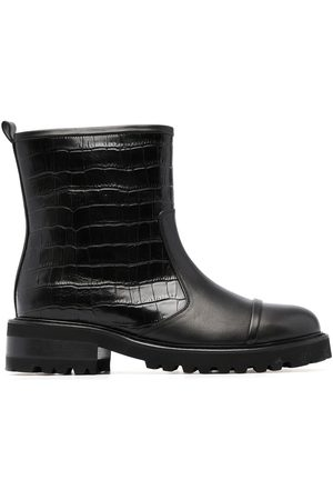Malone Souliers Women Biker Boots - Bibi croc-effect biker boots