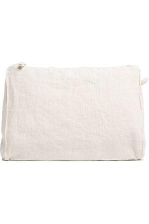 Once Milano Zip-up linen wash bag - Neutrals