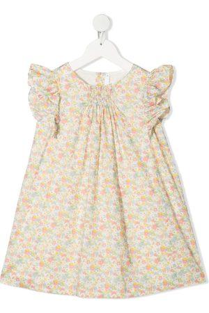 BONPOINT Girls Printed Dresses - Floral-print dress
