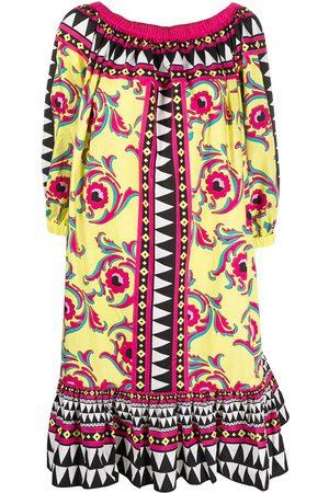 La DoubleJ Women Strapless Dresses - Off-shoulder floral mid-length dress