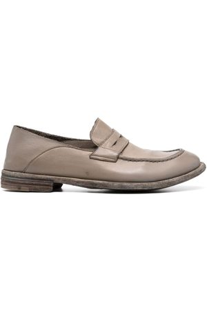 Officine creative Women Loafers - Pebbled buffalo leather loafers - Neutrals