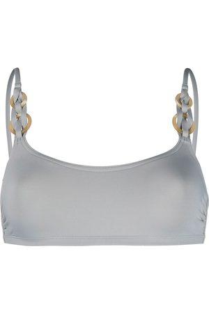 ERES Women Bikinis - Ring-detail bikini top - Grey