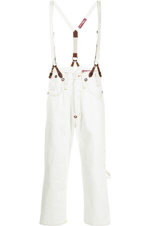 JUNYA WATANABE Men Relaxed Fit - Loose-fit suspender jeans