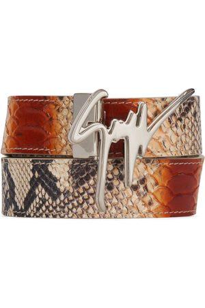 Giuseppe Zanotti Men Belts - Logo snakeskin-effect belt