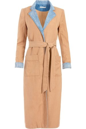 ALICE+OLIVIA Women Trench Coats - Verna two-tone robe dress