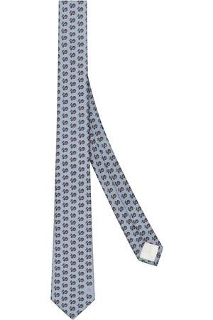 Fendi Men Bow Ties - All-over logo print tie