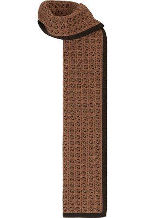 Fendi Intarsia FF-logo knit scarf