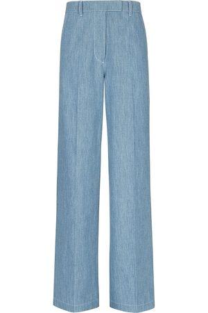 Fendi FF-motif wide-leg jeans
