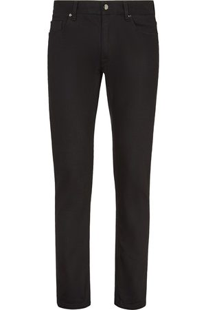 Fendi Men Slim - FF embroidered slim-fit jeans