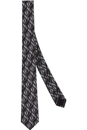 Fendi Men Bow Ties - Cubik jacquard silk tie