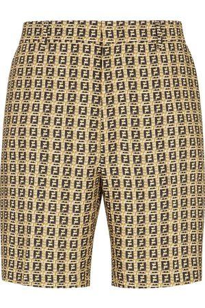 Fendi FF woven shorts