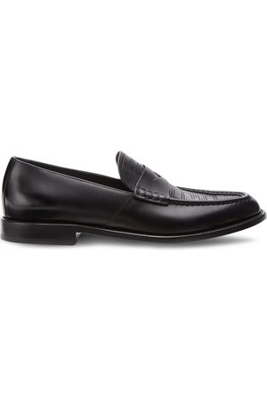 Fendi Men Loafers - Perforated FF-pattern loafers