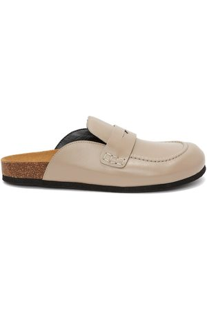 J.W.Anderson Men Loafers - Leather loafer mules - Neutrals