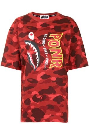 A BATHING APE® Women T-shirts - Camouflage shark T-shirt
