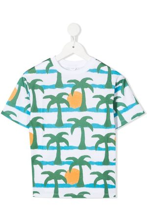 Stella McCartney Kids Palm tree print T-shirt
