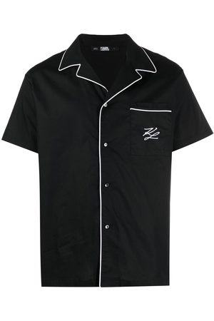 Karl Lagerfeld Contrast-trim pajama set