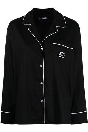 Karl Lagerfeld Logo-embroidered pajama set
