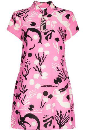 RIXO London Women Printed Dresses - Lolita sea-print silk minidress