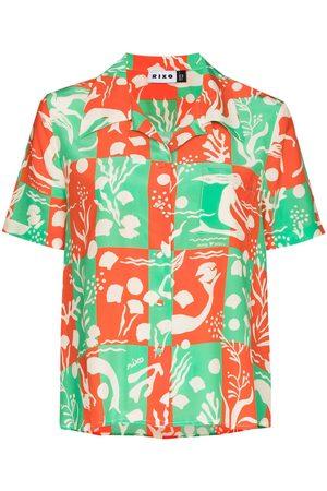 RIXO London Rickie Sea Life print shirt