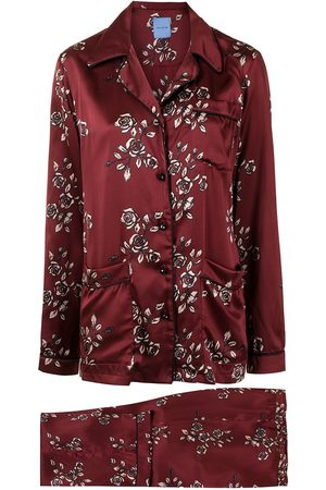 Macgraw Rose-print silk pajama set