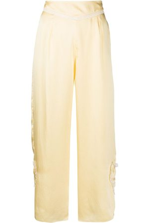 Morgan Lane Margot silk track trousers