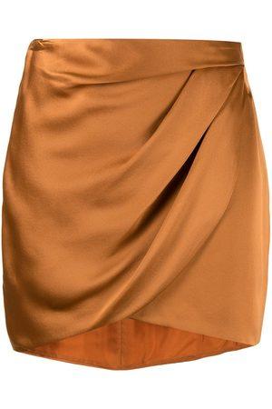 Michelle Mason Women Mini Skirts - Draped mini silk skirt