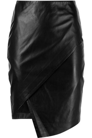 Michelle Mason Leather wrap skirt