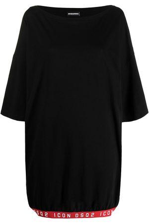 Dsquared2 Women Maxi Dresses - Logo trim maxi T-shirt dress