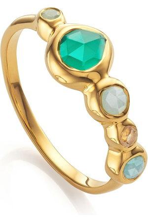 Monica Vinader Women Rings - Siren tonal half eternity ring
