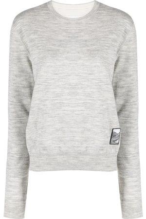 Jil Sander Women Sweatshirts - Marled knitted style sweatshirt - Grey