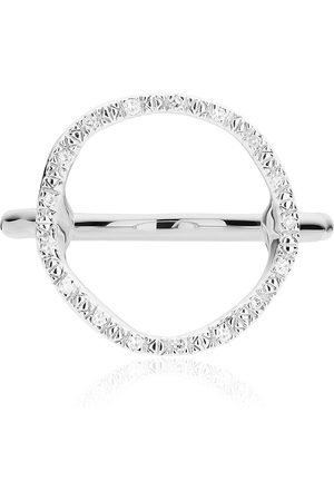 Monica Vinader Riva circle diamond ring