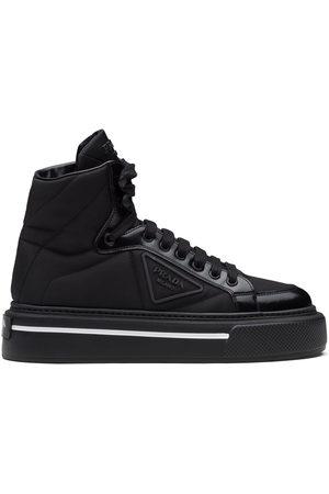Prada High-top tonal panel sneakers