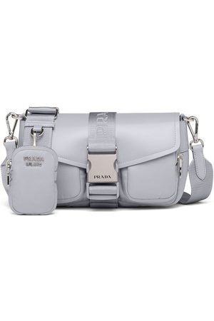 Prada Pocket logo-strap crossbody bag - Grey