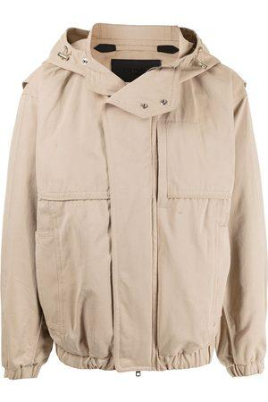 SONGZIO Bomber Jackets - Hooded bomber jacket - Neutrals