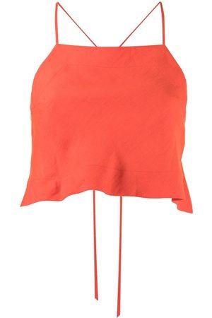 Bondi Born Women Tops - Rouleau cropped linen top