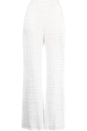 Semsem Matelassé straight-leg trousers