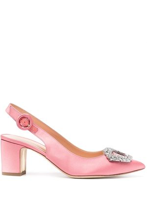 Rupert Sanderson Embellished sling-back pumps